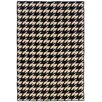 Linon Salonika Black/Cream Houndstooth Area Rug