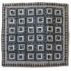 <strong>Patch Magic</strong> Blue Log Cabin Cotton Throw Quilt