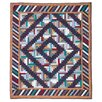 <strong>Patch Magic</strong> Dusty Diamond Log Cabin Cotton Throw Quilt