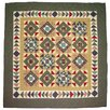Square Diamond Cotton Throw Quilt