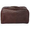 Dr. Koffer Fine Leather Accessories Double Zip Top Toiletry Kit