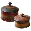 Uttermost Sherpa Round Decorative Boxes (Set of 2)