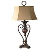 "Uttermost Andra 37"" H Table Lamp with Bell Shade"