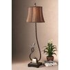 """Uttermost Peaceful Bird Detailed Accent 37"""" H Table Lamp with Bell Shade"""