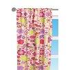 Botanical Purple Floral Cotton Rod Pocket Curtain Panel