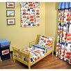 Bacati Transporation 4 Piece Toddler Bedding Set
