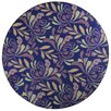 17 Magazine Rugs Flirty Floral Blue Kids Round Rug
