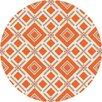 Jill Rosenwald Rugs Fallon Orange/Ivory Area Rug