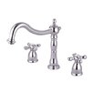 <strong>Elements of Design</strong> Heritage Double Handle Deck Mount Roman Tub Faucet Trim Metal Cross Handle