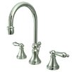 Elements of Design Madison Widespread Bathroom Faucet with Metal Lever Handle