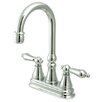 Elements of Design Madison Centerset Bar Faucet with Metal Lever Handles