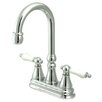 <strong>Elements of Design</strong> Madison Centerset Bar Faucet with Porcelain Lever Handles