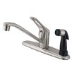 Elements of Design Single Handle Centerset Kitchen Faucet with Deck Sprayer