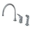 <strong>Elements of Design</strong> Widespread Kitchen Faucet with Wyndham Loop Handle