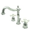 Elements of Design Widespread Bathroom Faucet with Double Buckingham Cross Handles