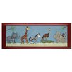Doodlefish Safari Parade Giclee Framed Art