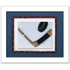Doodlefish Sports Hockey Framed Art