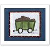 Doodlefish Transportation Railcar Framed Art