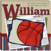 <strong>Personalized Basketball in the News Giclee Canvas Art</strong> by Doodlefish