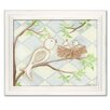 <strong>Doodlefish</strong> Birds Bunnies Birdie Diamond Giclee Framed Art