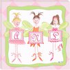 <strong>Doodlefish</strong> Personalized Fairy Monogram Giclee Canvas Art