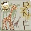 <strong>Doodlefish</strong> Personalized Giraffe Safari Giclee Canvas Art