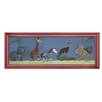 <strong>Doodlefish</strong> Safari Parade Giclee Framed Art