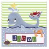 Doodlefish Personalized Whale of a Tale Giclee Canvas Art