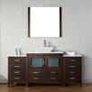 """Virtu Dior 72"""" Single Bathroom Vanity Set"""