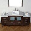 "Virtu Dior 71"" Single Bathroom Vanity Set with Mirror"
