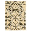 Linon Rugs Moroccan Fes Ivory/Black Rug