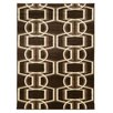 Linon Rugs Roma Bridle Chocolate/Beige Rug