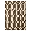 Linon Rugs Roma Zigzag Ivory/Chocolate Area Rug