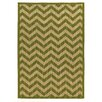 Linon Rugs Innovations Reversible Green Chevron Outdoor Area Rug
