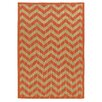 Linon Rugs Innovations Reversible Rust Chevron Outdoor Area Rug