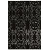 Linon Rugs Prisma Electric Black Area Rug