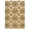 Linon Rugs Le Soleil Ivory & Terracotta Outdoor/Indoor Area Rug
