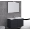 "Iotti by Nameeks Space 39"" Single Wall Mount Bathroom Vanity Set with Mirror"