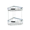 Geesa by Nameeks Basket Double Large Corner Shower Basket in Chrome