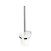 Geesa by Nameeks BloQ Wall Mounted Toilet Brush Holder in Chrome