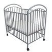 L.A. Baby Classic Arched Compact Metal Crib