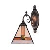 <strong>Landmark Lighting</strong> Mix-N-Match 1 Light Wall Sconce with Triangle Shaped Glass Shade