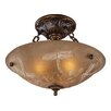 "<strong>Landmark Lighting</strong> 16"" Restoration 3 Light Semi Flush Mount"
