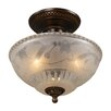 "11"" Restoration 3 Light Semi Flush Mount"