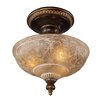 "<strong>Landmark Lighting</strong> 12"" Restoration 3 Light Semi Flush Mount"
