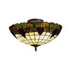 <strong>Landmark Lighting</strong> Grapevine 3 Light Semi Flush Mount