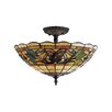 <strong>Landmark Lighting</strong> Tiffany Buckingham 3 Light Semi Flush Mount