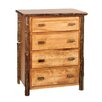 Hickory 4 Drawer Chest
