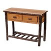 <strong>Fireside Lodge</strong> Hickory Two Drawer Console Table