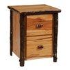 Fireside Lodge Hickory 2-Drawer File Cabinet